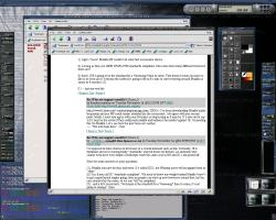 BlueHeart etheme and GTK. Eterm in automode, GIMP, GKrellM with BlueHeart and Cyrus2. Netscape and background from tigert.gimp.org
